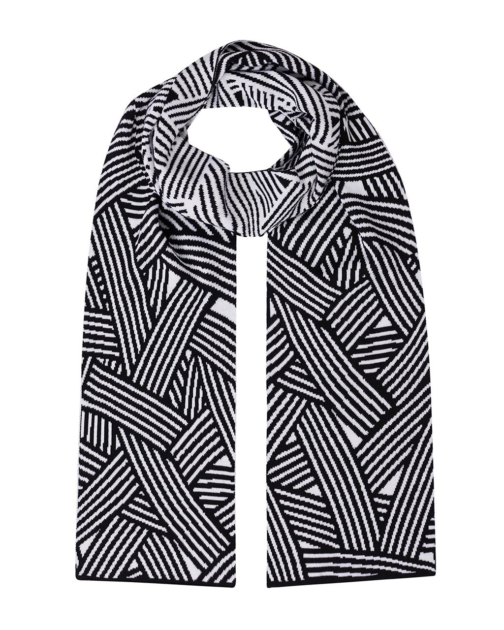 Geometric Striped Scarf