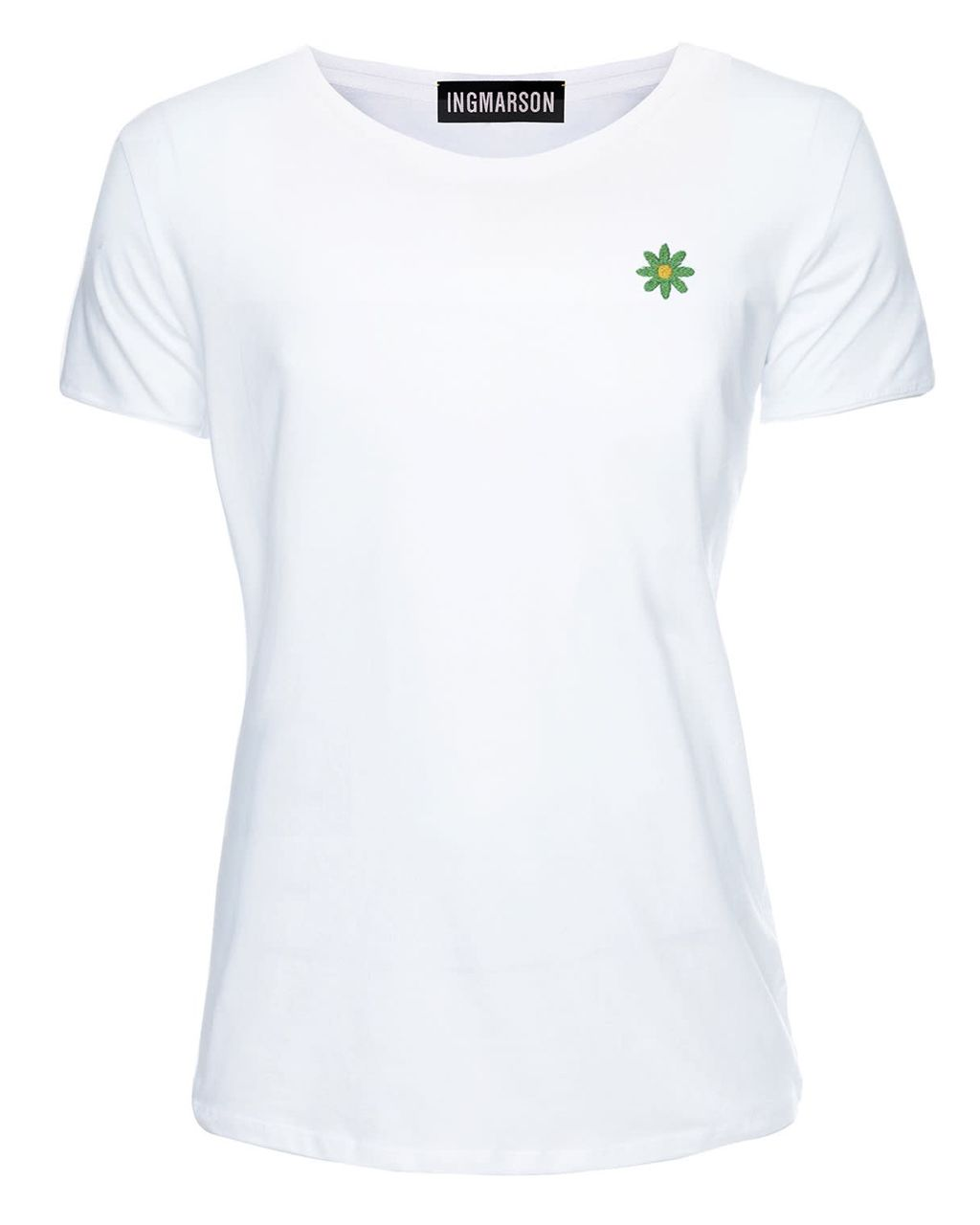 Daisy Embroidered T-Shirt White