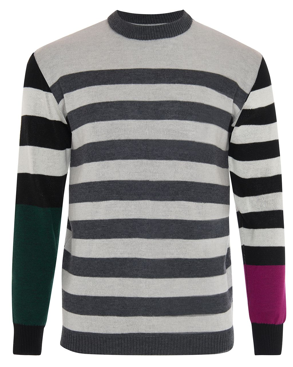 Colour Block Striped Jumper