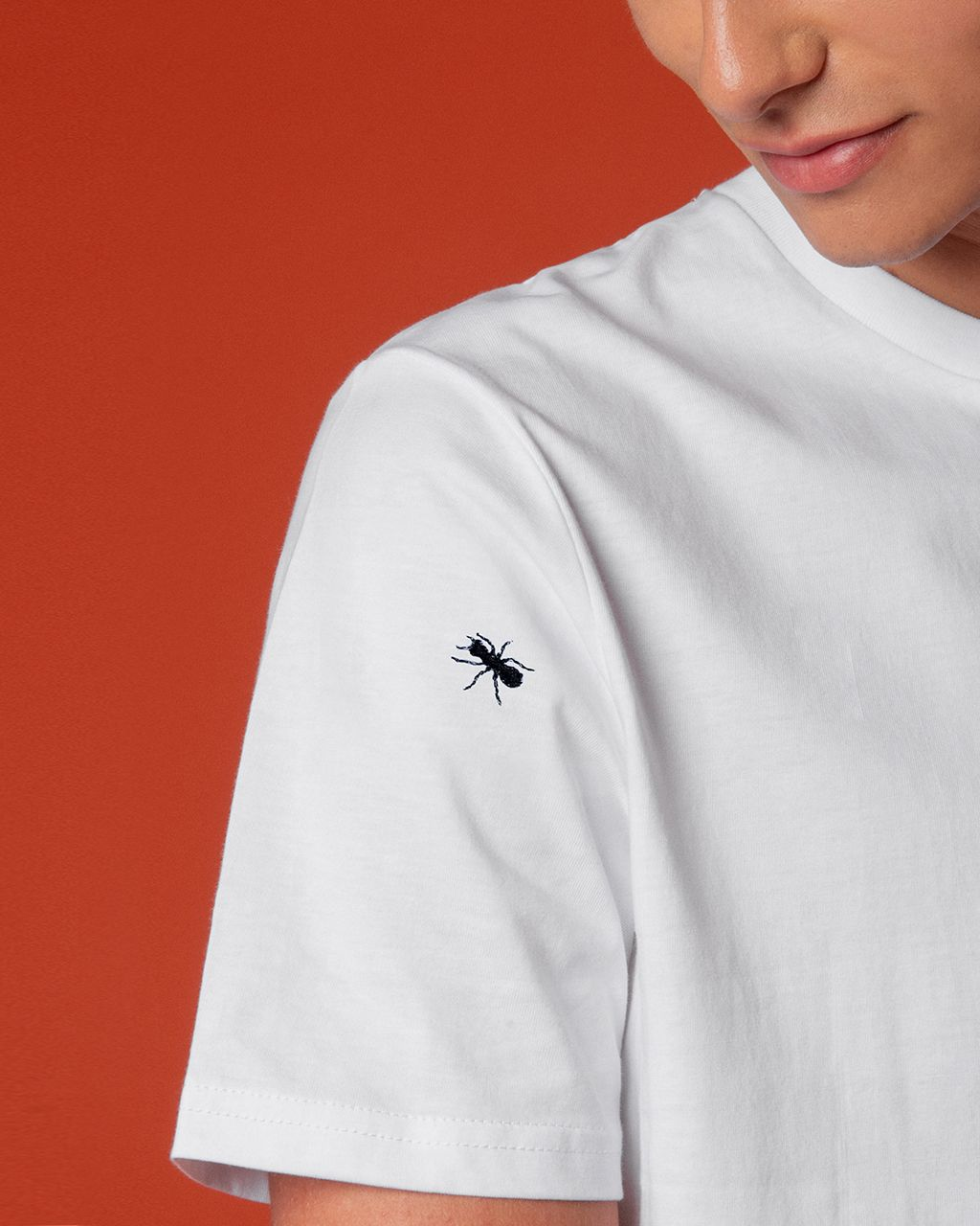 Ants Embroidered T-Shirt White Men