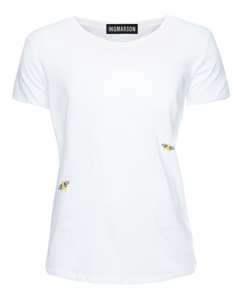 Bee Embroidered T-Shirt White