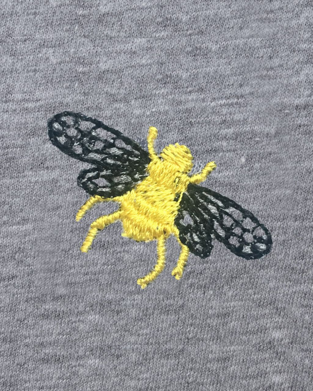 Bee Embroidered T-Shirt Grey